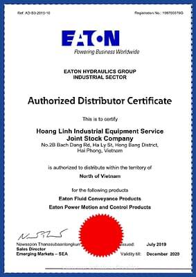 Eaton authorized distributor letter